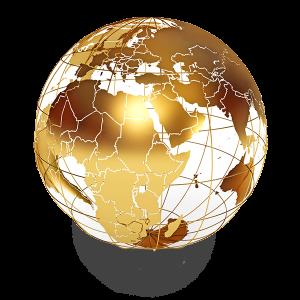 gold world ball